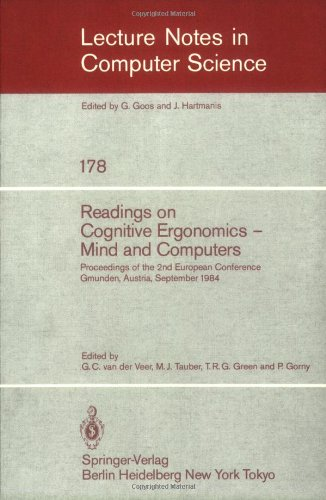 Readings on Cognitive Ergonomics, Mind and Computers: Proceedings of the Second European Conference, Gmunden, Austria, September 10-14, 1984 9783540133940