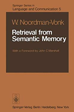 Retrieval from Semantic Memory 9783540092193