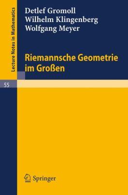 Riemannsche Geometrie Im Gro En 9783540071334