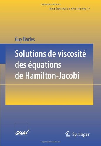 Solutions de Viscosit Des Quations de Hamilton-Jacobi 9783540584223