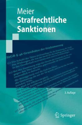 Strafrechtliche Sanktionen 9783540890638