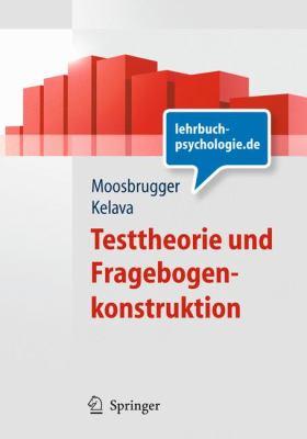 Testtheorie Und Fragebogenkonstruktion 9783540716341