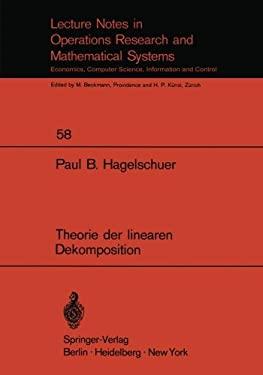 Theorie Der Linearen Dekomposition 9783540056676