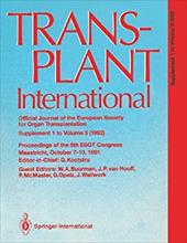 Transplant International Official Journal of the European Society for Organ Transplantation: Proceedings of the 5th Congress of th 13154599