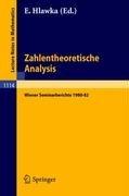 Zahlentheoretische Analysis: Wiener Seminarberichte 1980-82 9783540151890