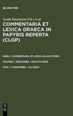 Aeschines - Alcaeus 9783598730436