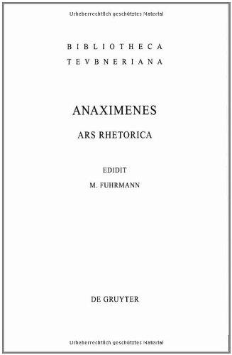Ars Rhetorica 9783598719837
