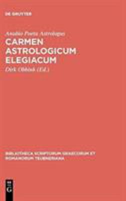 Carmen Astrologicum Elegiacum 9783598712289