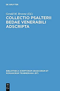 Collectio Psalterii Bedae: Venerabili Adscripta 9783598712296
