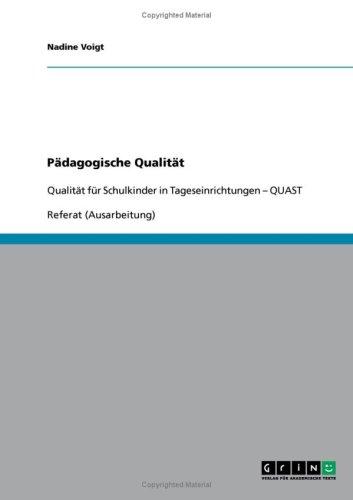 P Dagogische Qualit T 9783638680479