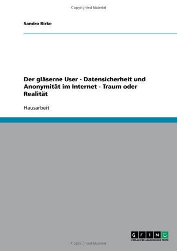 Der Gl Serne User - Datensicherheit Und Anonymit T Im Internet - Traum Oder Realit T 9783638683753