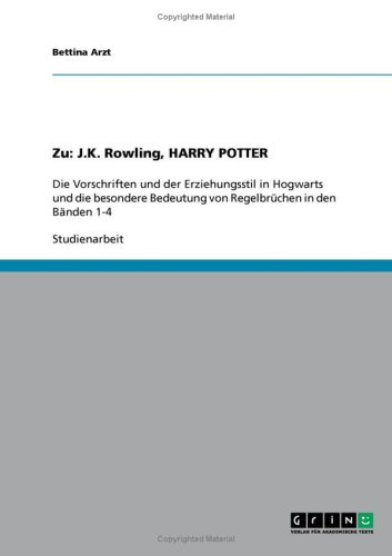 Zu: J.K. Rowling, Harry Potter 9783638861083