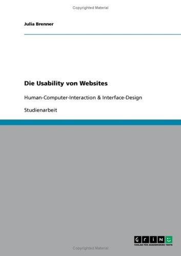 Die Usability Von Websites 9783638889179