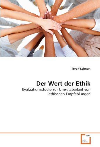 Der Wert Der Ethik 9783639356953