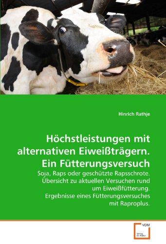 H Chstleistungen Mit Alternativen Eiwei Tr Gern. Ein F Tterungsversuch 9783639363081