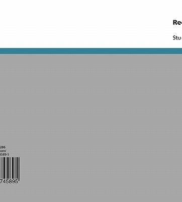 Rechtsregeln Des Reisegewerbes 9783638745895