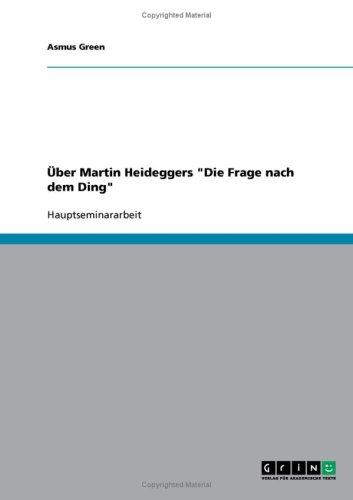 Ber Martin Heideggers