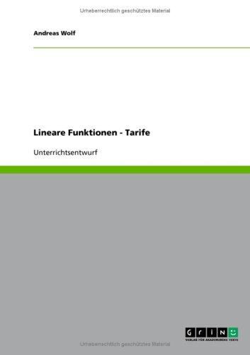 Lineare Funktionen - Tarife 9783640203888
