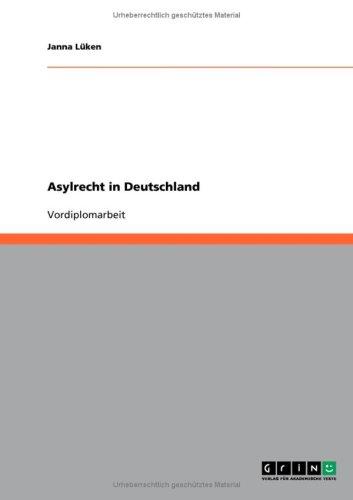 Asylrecht in Deutschland 9783640230297