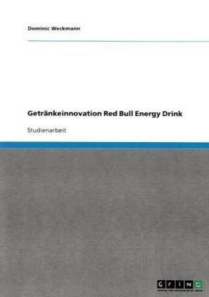 Getr Nkeinnovation Red Bull Energy Drink 9783640369225