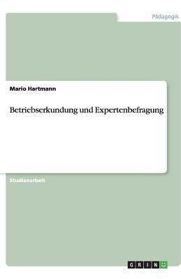 Betriebserkundung Und Expertenbefragung 9783640510221