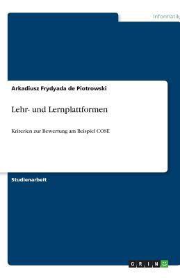 Lehr- Und Lernplattformen 9783640518654