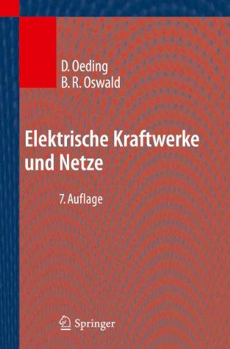 Elektrische Kraftwerke Und Netze 9783642192456
