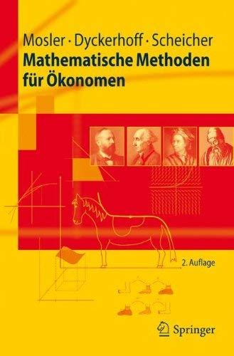 Mathematische Methoden F R Konomen