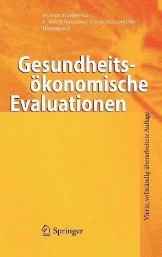 Gesundheits Konomische Evaluationen 9783642216992