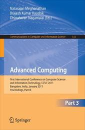 Advanced Computing: First International Conference on Computer Science and Information Technology, Ccsit 2011, Bangalore, India, J
