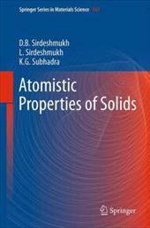 Atomistic Properties of Solids 21667951