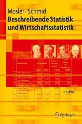 Beschreibende Statistik Und Wirtschaftsstatistik 9783642015564