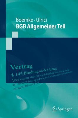 BGB Allgemeiner Teil 9783642016097