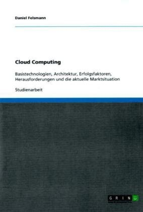Cloud Computing 9783640699599