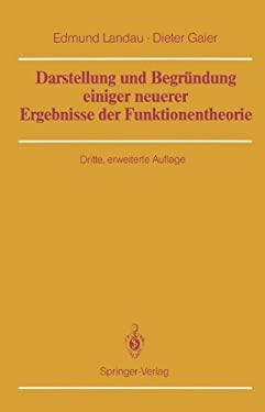 Darstellung Und Begr Ndung Einiger Neuerer Ergebnisse Der Funktionentheorie 9783642714399