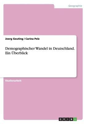 Demographischer Wandel in Deutschland - Ein Berblick 9783640843510
