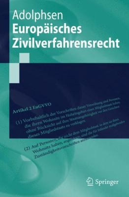 Europaisches Zivilverfahrensrecht 9783642131684