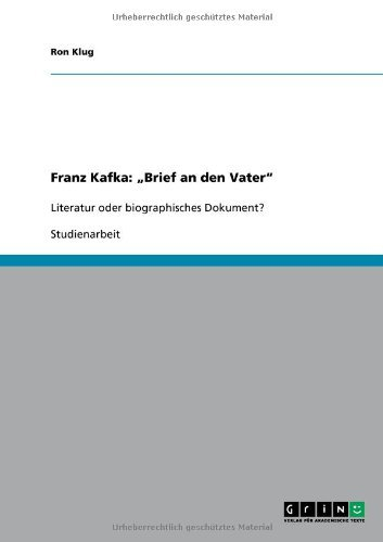 Franz Kafka: Brief an Den Vater 9783640644117