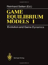 Game Equilibrium Models I: Evolution and Game Dynamics
