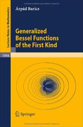 Generalized Bessel Functions of the First Kind 11475518