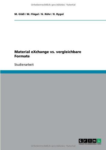 Material Exchange vs. Vergleichbare Formate 9783640453436
