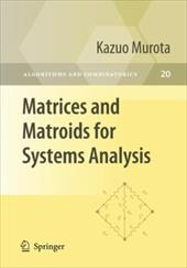 Matrices and Matroids for Systems Analysis 8007574