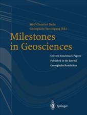 "Milestones in Geosciences: Selected Benchmark Papers Published in the Journal ""Geologische Rundschau"" 10985256"