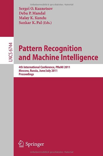 Pattern Recognition and Machine Intelligence 9783642217852