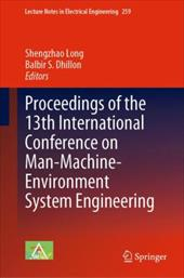 Proceedings of the 13th International Conference on Man-Machine-Environment System Engineering 21211903