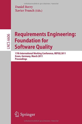 Requirements Engineering: Foundations for Software Quality 9783642198571