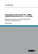 Sicherungsverwahrung Und Art. 7 Emrk (Egmr M./Deutschland, Urt. V. 17.12.2009) 9783640697137