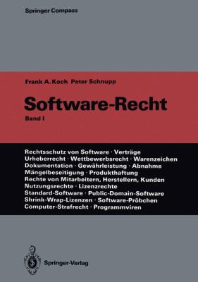 Software-Recht: Band 1 9783642756436