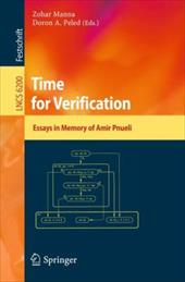 Time for Verification: Essays in Memory of Amir Pnueli