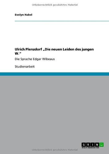 """Ulrich Plenzdorf Die Neuen Leiden Des Jungen W."""""""